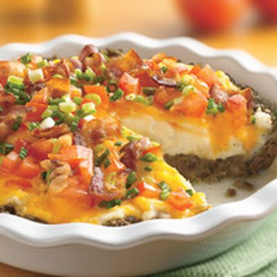 Ground Beef and Twice Baked Potato Pie...could try with grd turkey and ...
