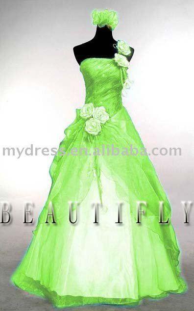 Lime green wedding dress wedding pinterest for White green wedding dress