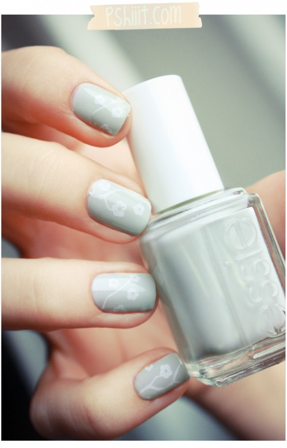 Essie - Absolutely Shore. I like how soft the design on it is.