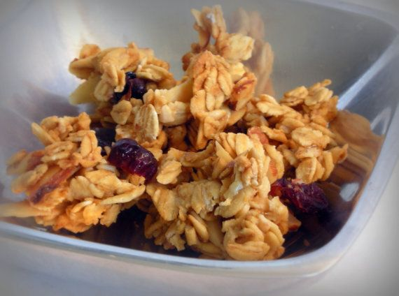 Cranberry Orange Gourmet Granola - All natural & vegan - almonds, cra ...