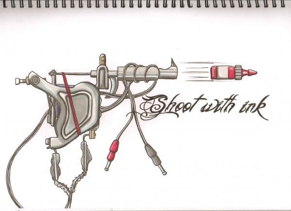 machine gun drawings - photo #40