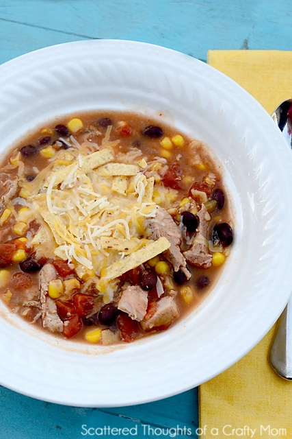 Quick and Easy Chicken Tortilla Soup Going to make for supper tonight ...