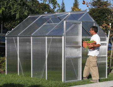 how to build metal greenhouse