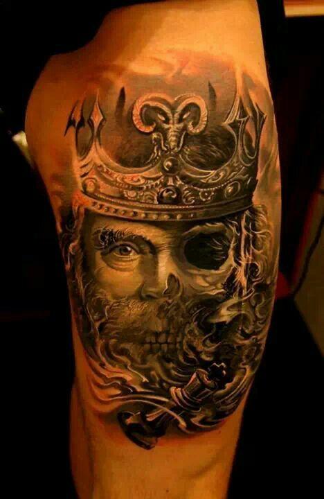 skull king tattoos pinterest. Black Bedroom Furniture Sets. Home Design Ideas