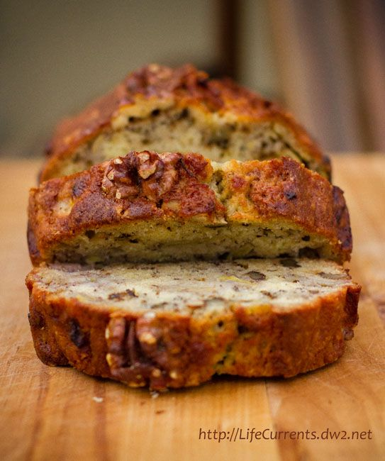 Bourbon Banana Walnut Bread...if there's any left over, re-purpose it ...