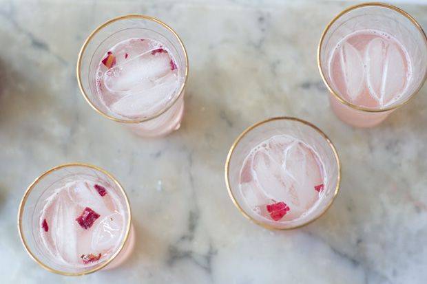 Rhubarb Rosewater Syrup Recipe http://www.101cookbooks.com/archives ...
