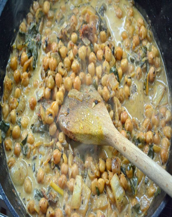 ... chickpeas 4 Braised Chickpeas and Chard with Coconut Milk & Lemon
