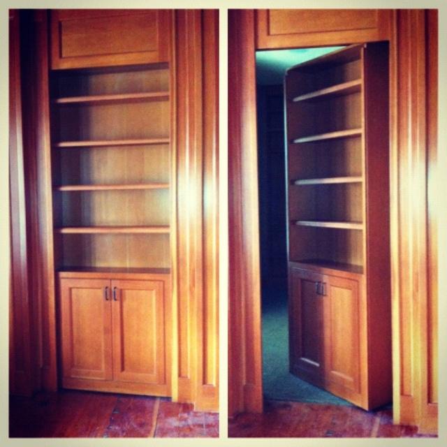 Secret door bookcase.   Secret Doors.   Pinterest