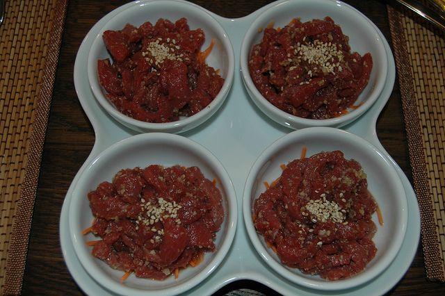 Yukhoe - Korean Steak tartare | Gastronomie | Pinterest