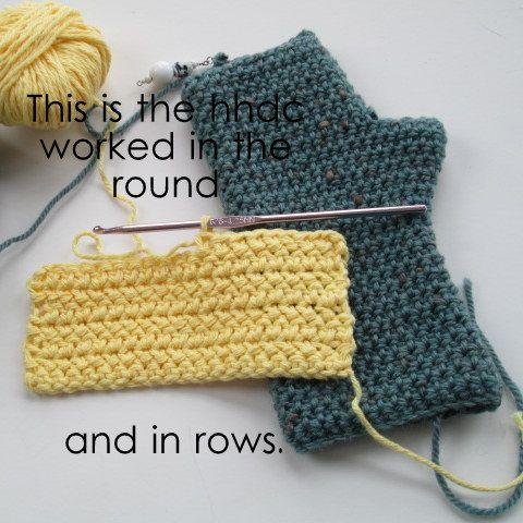 herringbone half double crochet | the hooked haberdasher