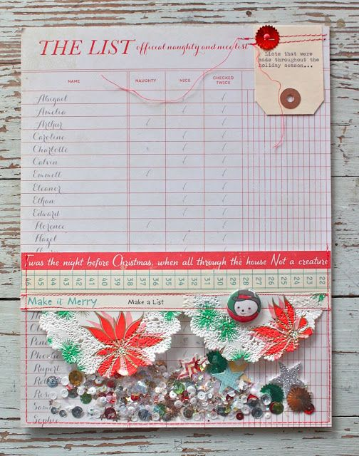 Mish Mash: Project December....confetti list pocket