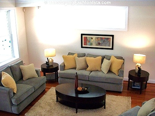 Living room home staging ideas pinterest for Staging small living room