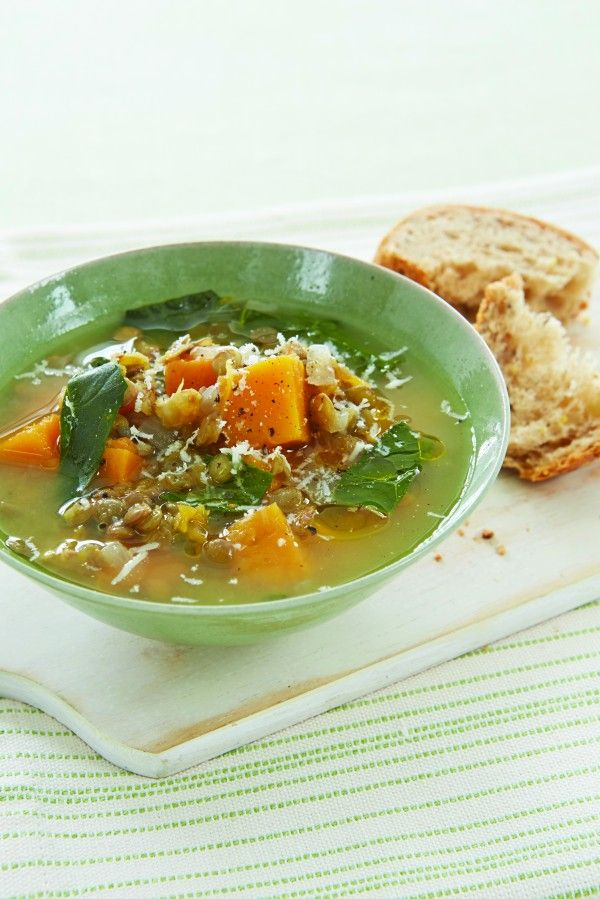 Rustic Lentil Soup #healthy #winter #recipe