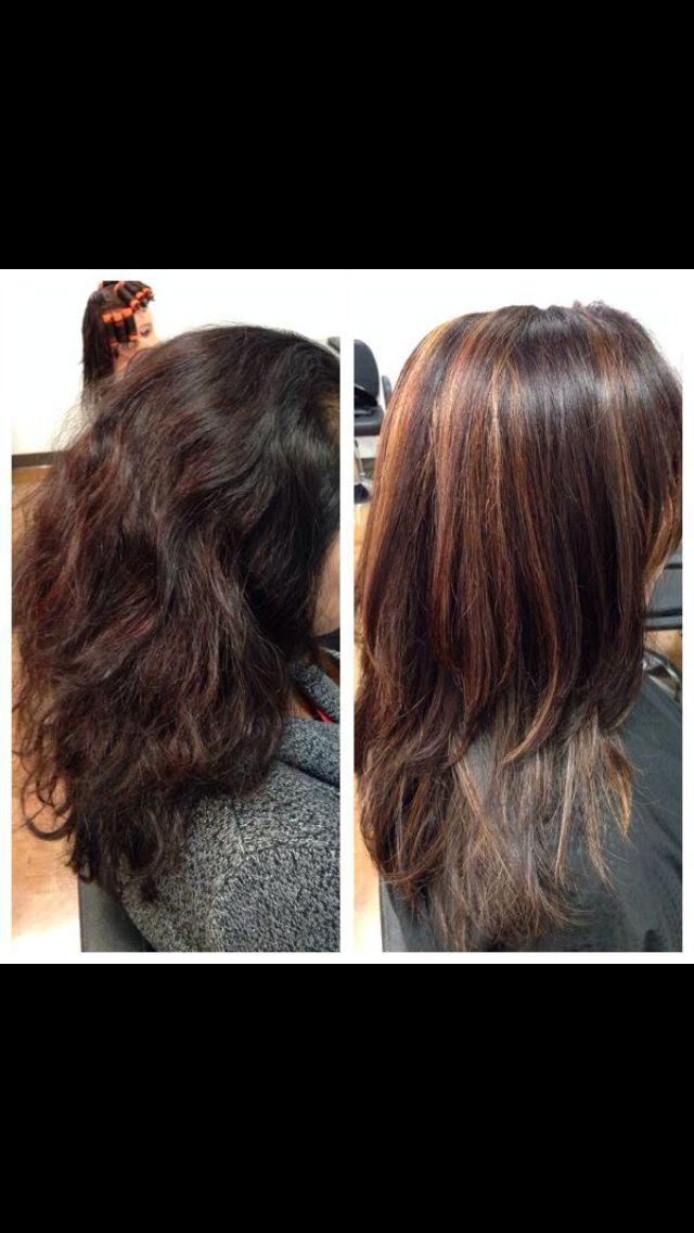 Partial Highlights : Partial highlights Hair inspirations Pinterest