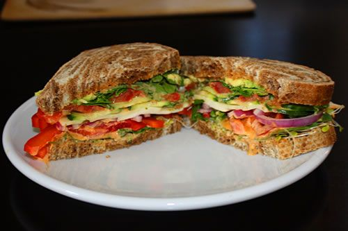 California Veggie Sandwich Recipe — Dishmaps