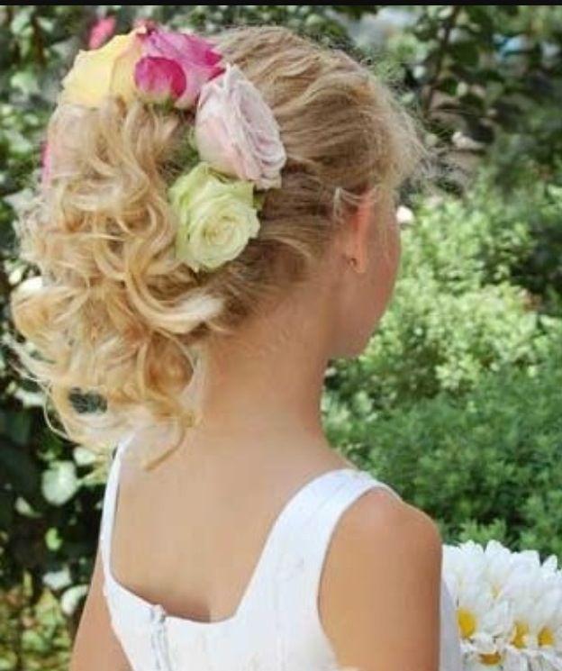 wet curly hairstyles : Wedding hair styles for children Always & Forever Pinterest