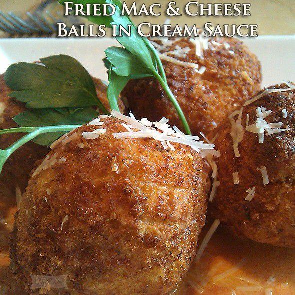 fried mac amp cheese balls in cream sauce askchefron com