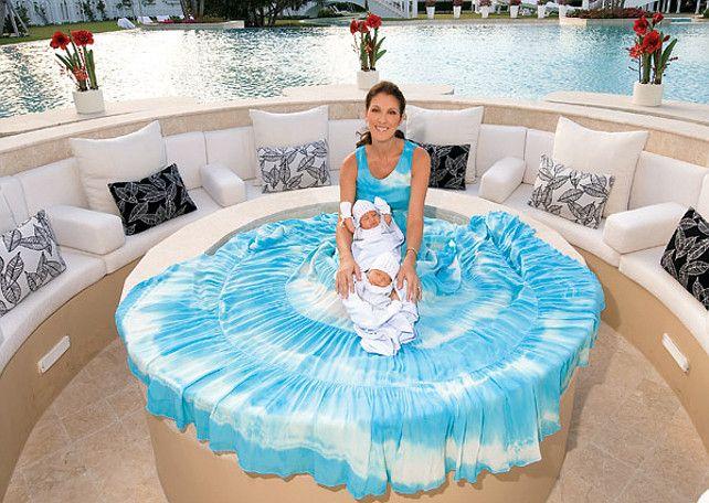 Celine dion twins pool pinterest - Celine dion swimming pool ...