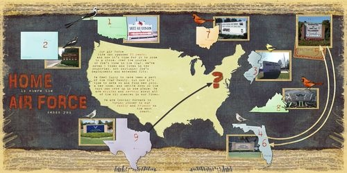 North American Road Trip Digital #Scrapbooking Layout featuring #scrapbook   Creative Memories Rewards Club Exclusive Products    http://www.creativememories.com