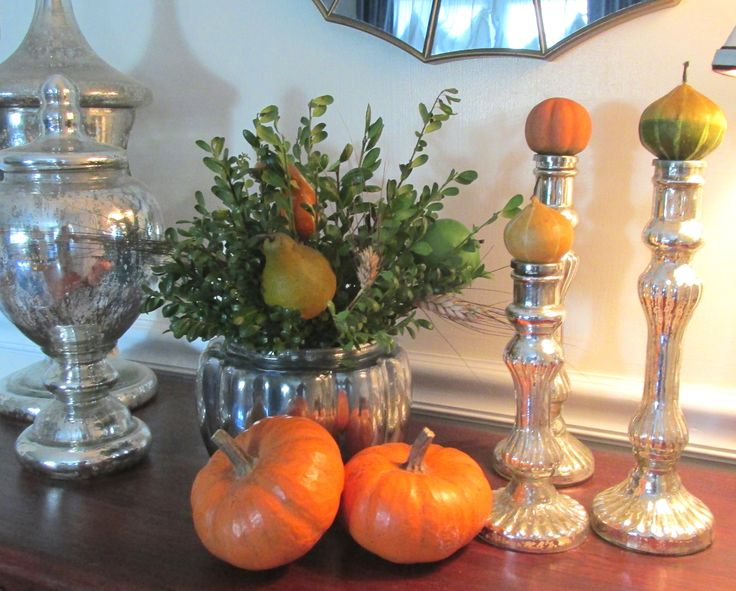 fall mercury glass decor fall decorating ideas and treats pintere