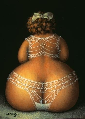 Does this Lace make my butt look big! Figuration Feminine: Jeanne Lorioz (1954)