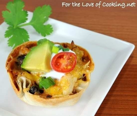 creamy chicken taco cups | Favorite Recipes | Pinterest