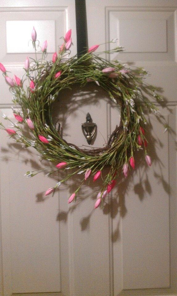 Diy Spring Wreath Fun Ideas Pinterest
