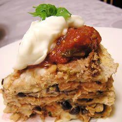 Seven Layer Tortilla Pie Recipe - Allrecipes.com