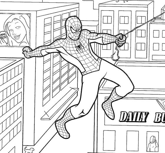 Pin Printable The Amazing Spider Man Action Coloring Pages