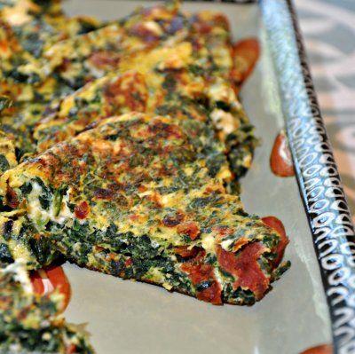 spinach frittata | Breakfast | Pinterest