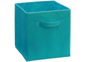 Cubeicals fabric drawer in ocean blue 11 quot h x 10 25 quot w x 10 25 quot d