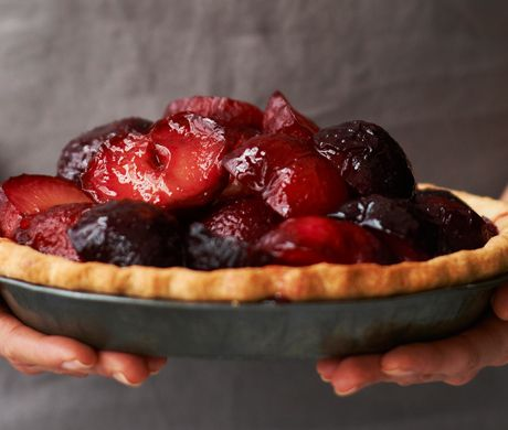 Plum and Mascarpone Pie Recipe at Epicurious.com