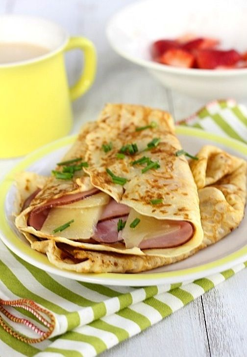 ham and gruyere crepes | Crepe Inspiration! | Pinterest