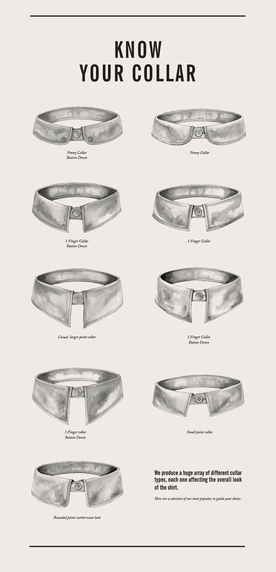 Know your collar the white shirt timeless pinterest for Mens shirt collar styles