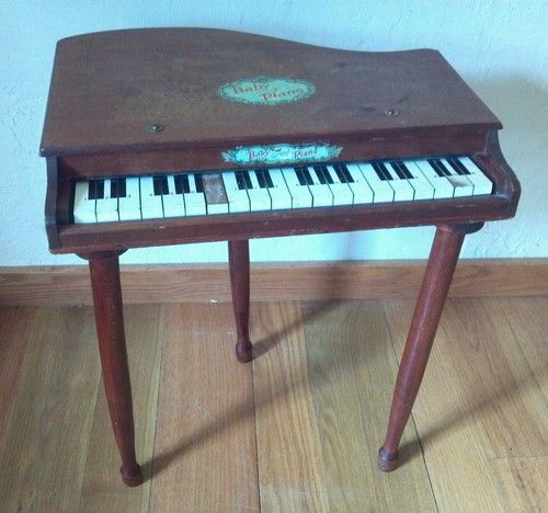 Baby Grand Piano- Wooden Childs Kids Vintage Japan Old ...