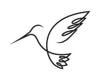 Continuous line hummingbird