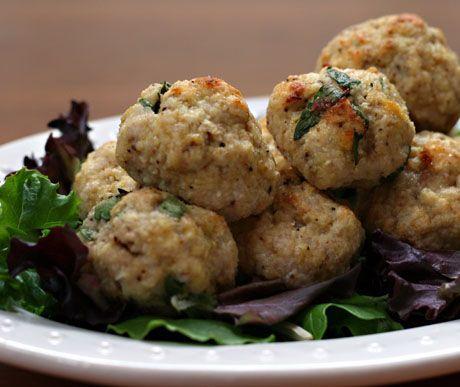 Turkey Balls. Of the meat variety. Greek. Add feta, garlic & a squeeze ...