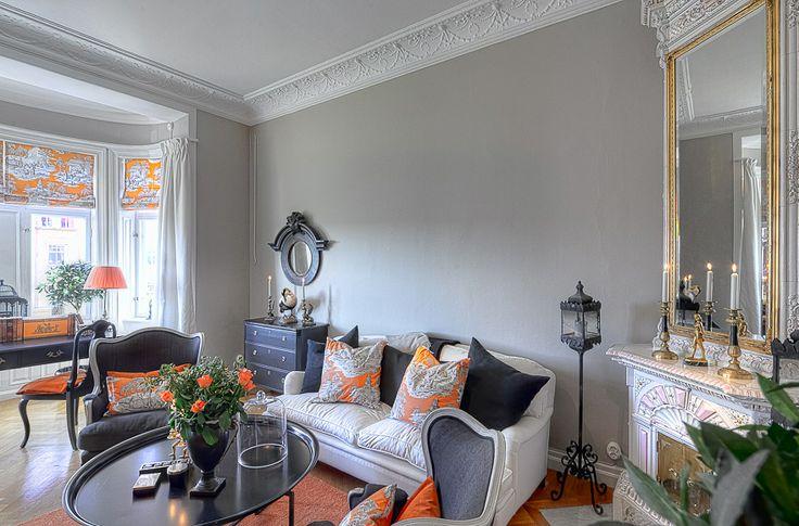Grey And Orange Living Room Yellow Orange Pinterest
