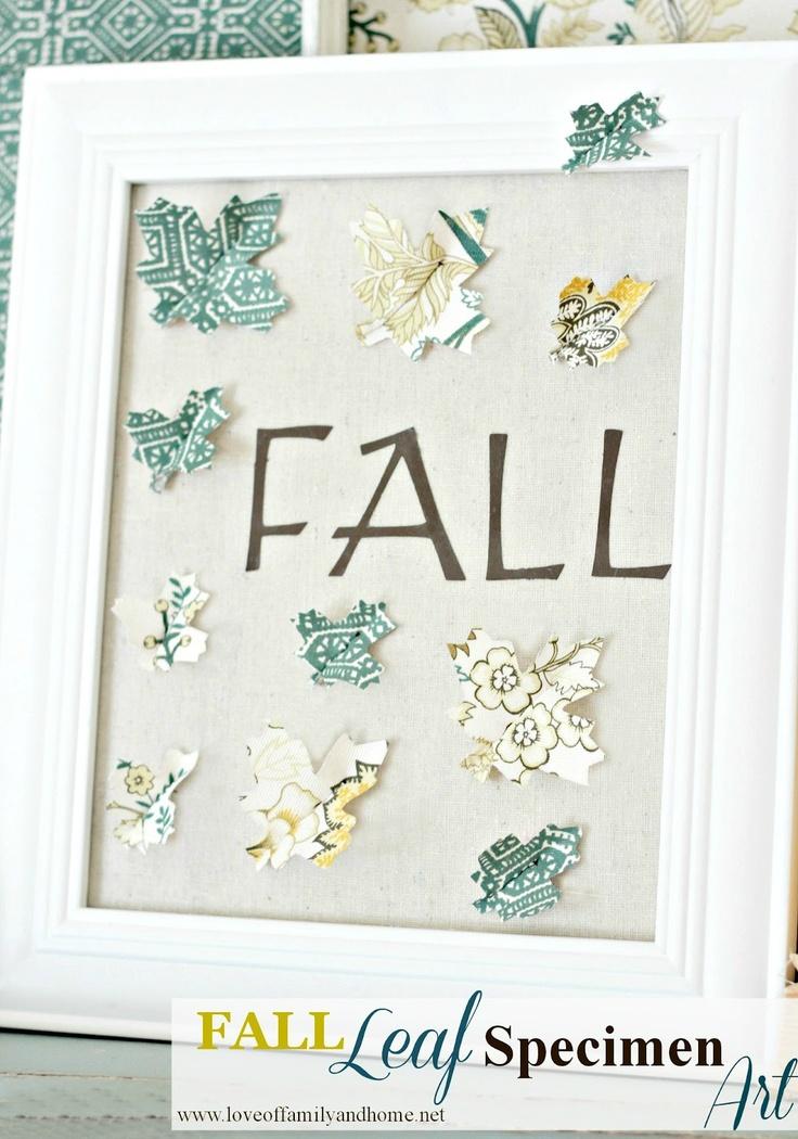 Fall Leaf Specimen Art