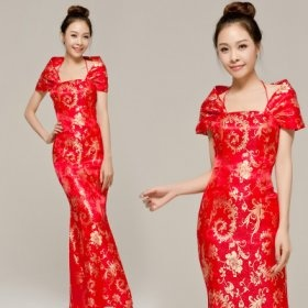 clothes winter long funds Chinese dress proposes a toast the clothing