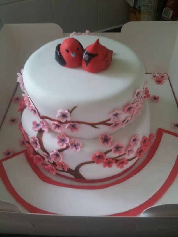 Ruby Anniversary Cake Images : Ruby anniversary blossom cake.... birthday party ideas ...