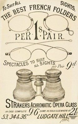 vintage spectacle advertisement