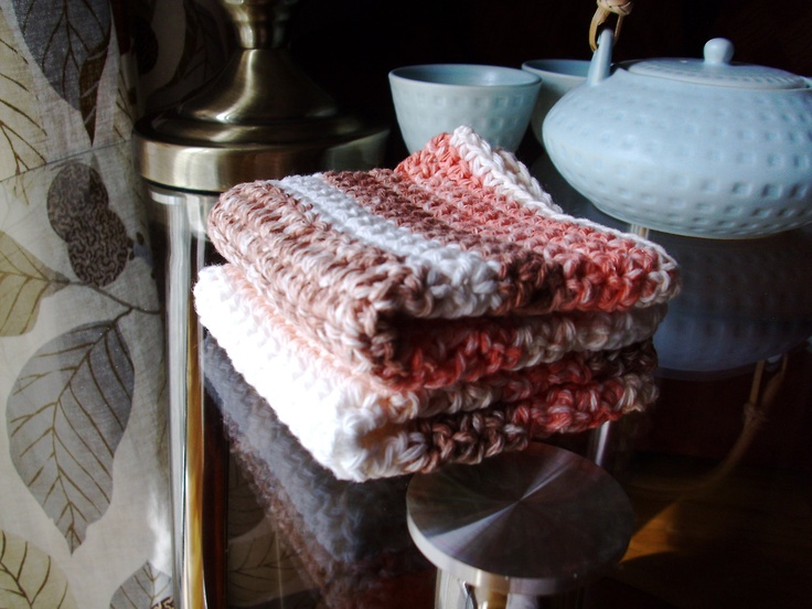 Crocheting Dish Rags : crochet dish rags-100% cotton wash cloths-eclectic dish rags. $15.00 ...