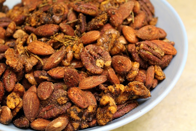 Spicy Roasted Almonds, Pecans, & Walnuts | Rico! | Pinterest