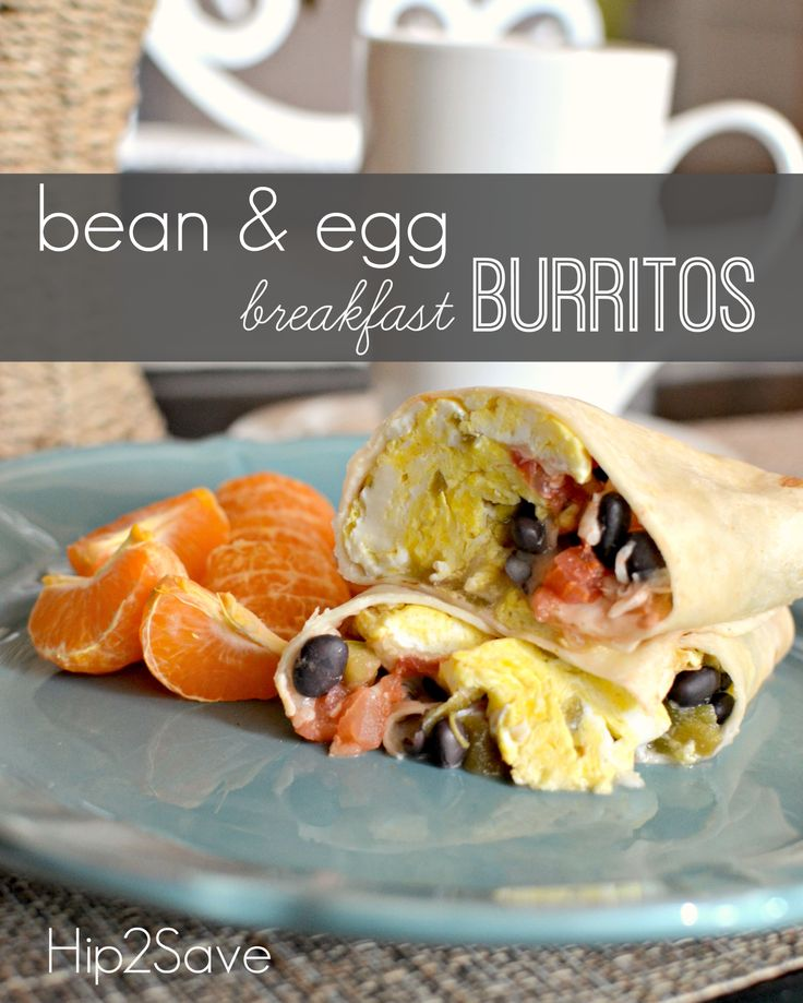 Black Bean & Egg Breakfast Burritos by Hip2Save