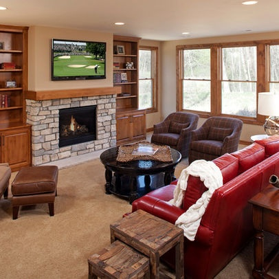 basement photos tv above fireplace design pictures remodel decor
