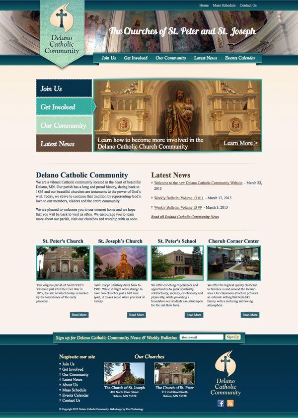 catholic website design