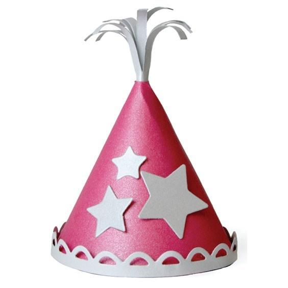 Party Hat die by Lifestyle Crafts. Compatible with lead die-cutting machines.