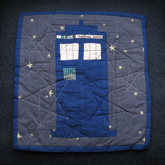 TARDIS quilt by Wendymoon Designs