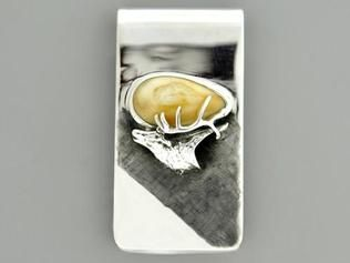 Elk Ivory Money Clip Sterling Silver | Elk Ivory Jewelry | Pinterest